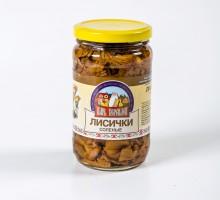 Грибы Лисички соленые 350 гр.