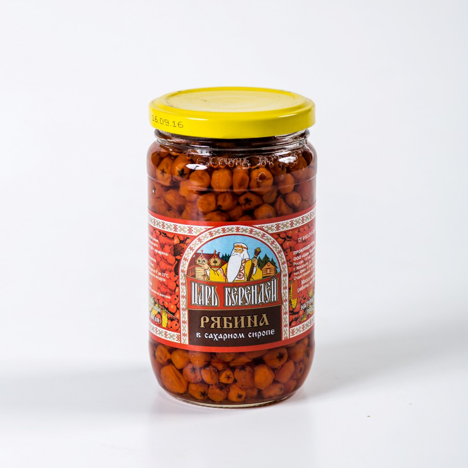Рябина красная в сахарном сиропе 350 гр.