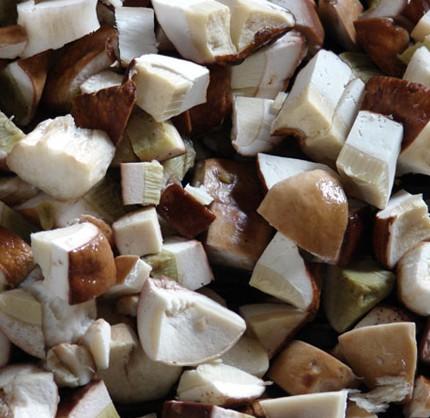 Грибы белые быстрозамороженные резаные